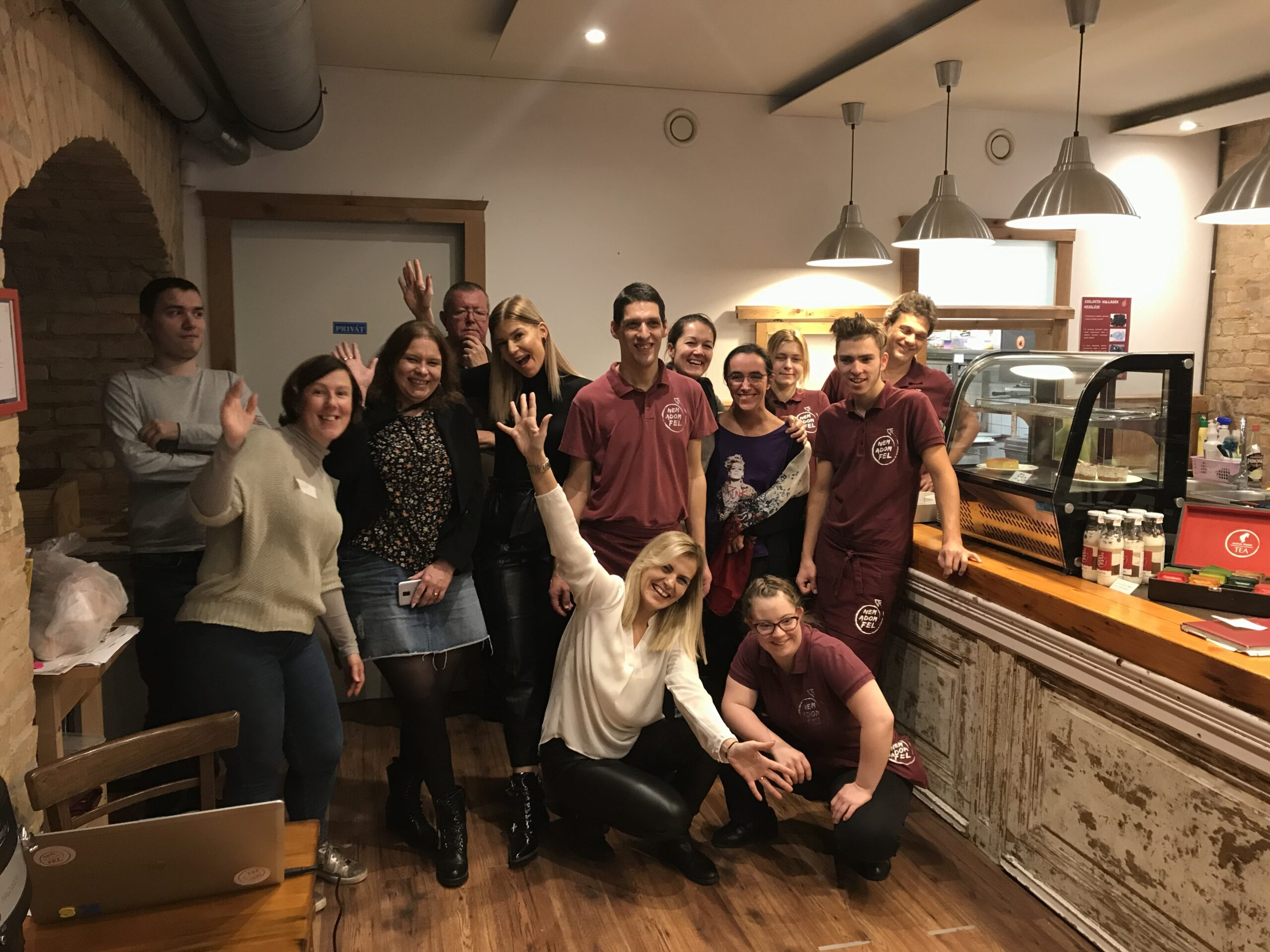 The team with the Cafe workers